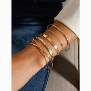 Simple Delicate Layered Dainty Gold Bracelet Set
